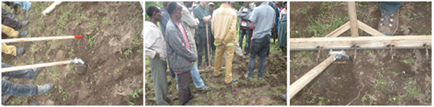 Kandel's hand tools on demonstration by the smallholder farmers at on-farm sites.