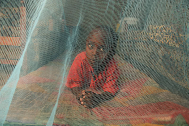 Treated bednets help reduce incidents of malaria among vulnerable populations.