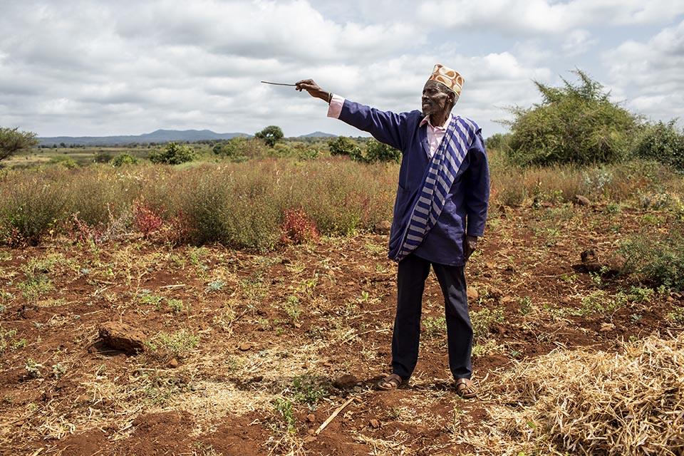 Kenya farmer in field