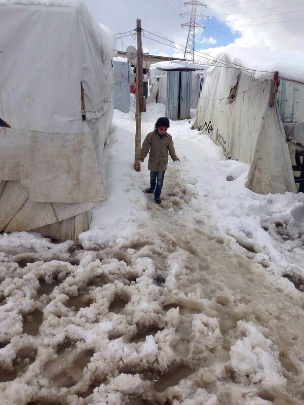 CRS is helping Syrian refugees prepare for the long winter ahead. Photo courtesy of CLMC/Caritas