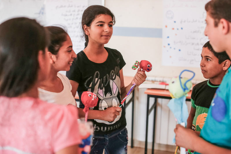 Since it started, the Good Shepherd Sisters summer camp in Lebanon's Bekaa Valley has reached hundreds of Syrian refugee children. Photo by Sam Tarling for CRS