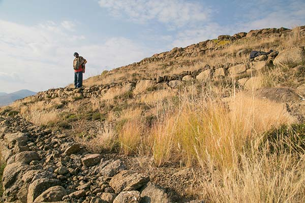 Lesotho hillside