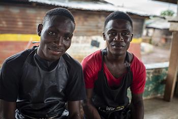 Entrepreneurs creating soap products in Monrovia, Liberia