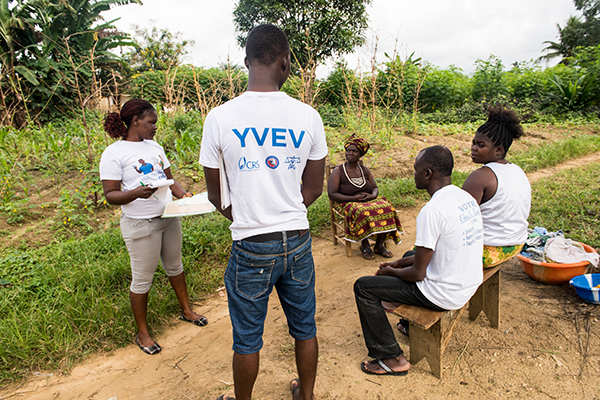 liberia youth volunteers for peaceful elections