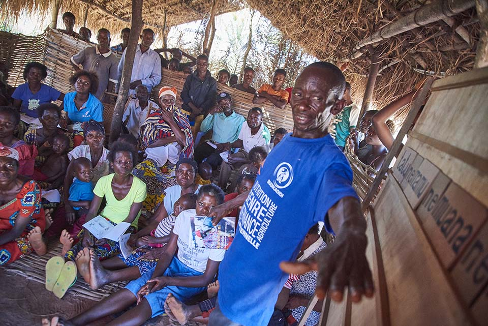 literacy class in DR Congo