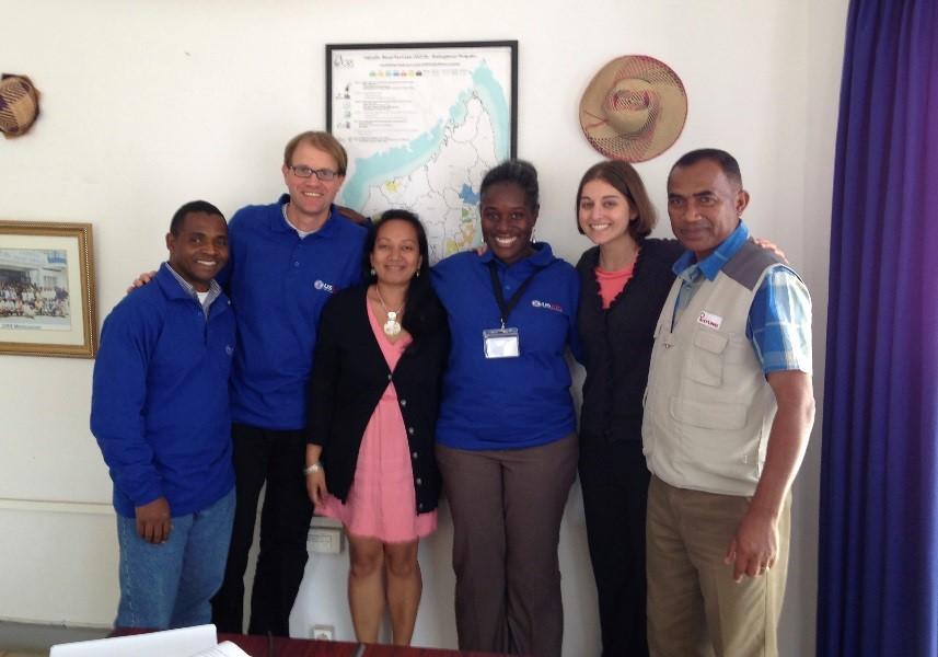 Ariana with the CRS Madagascar team