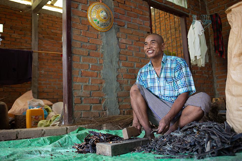 making fertilizer in Myanmar