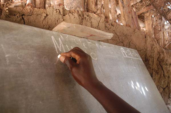 Malawi classroom chalkboard