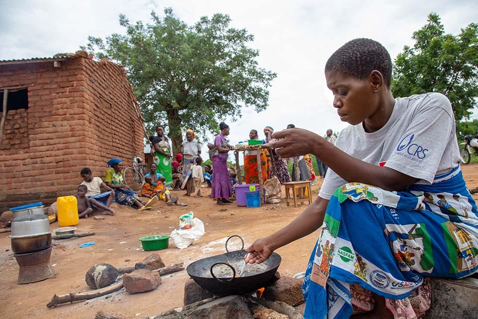 Malawi cooking demonstration