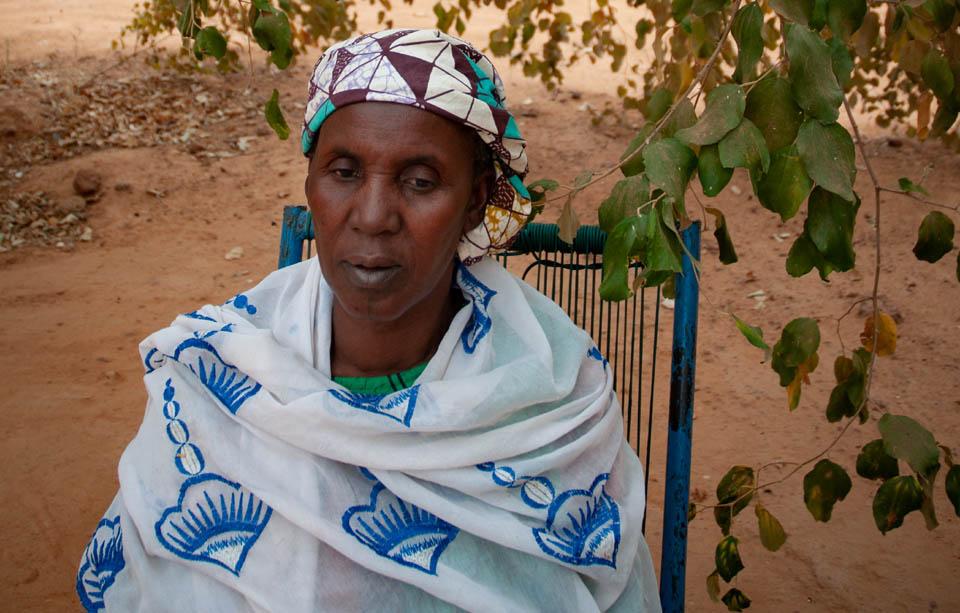 displaced Mali woman