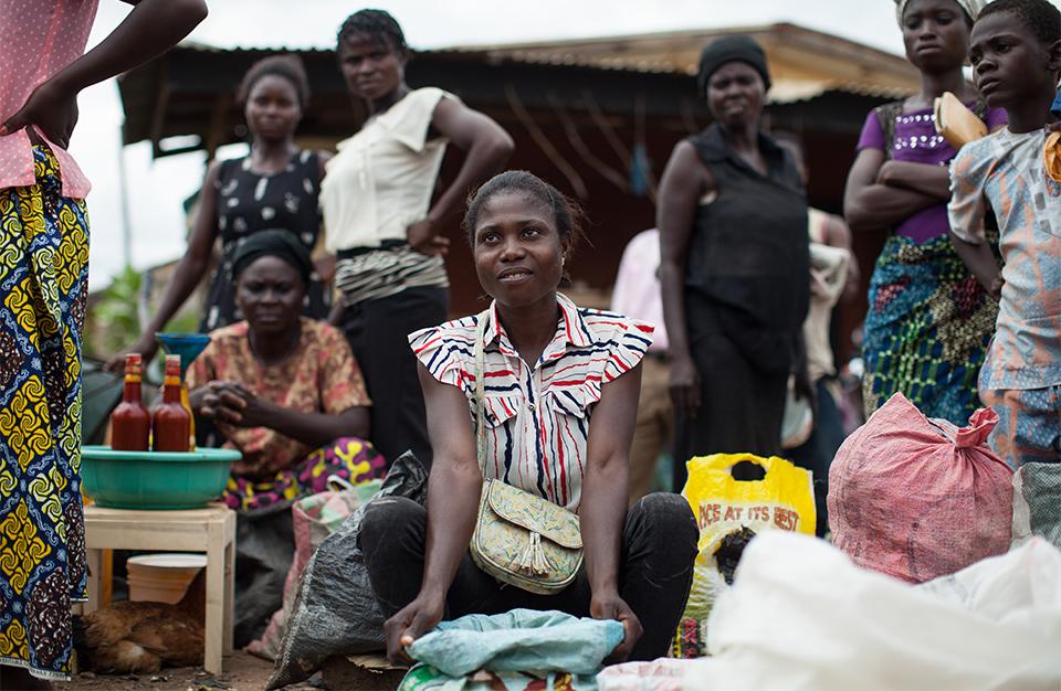 woman in market in Nigeria