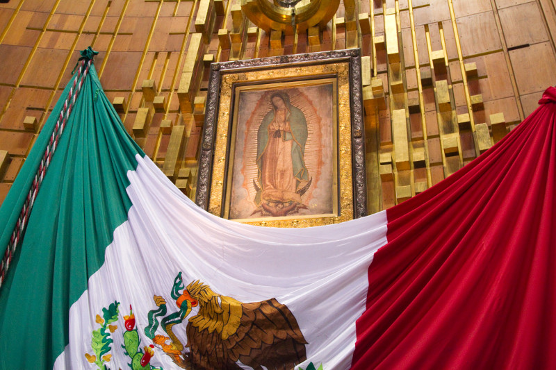 The pope will make a pilgrimage to the Basilica in Mexico City to view the tilma of Saint Juan Diego, which contains the miraculous image of Our Lady of Guadalupe. Photo by Philip Laubner/CRS