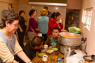Casa del Migrante, on the outskirts of Mexico City, provides a safe haven for migrants. Photo by Philip Laubner/CRS
