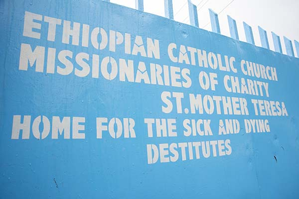 Missionaries of Charity sign