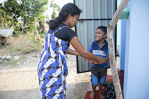 young mother and her child in Sri Lanka