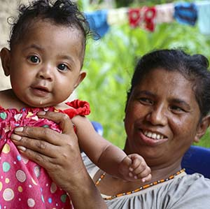 mother and child in Timor Leste