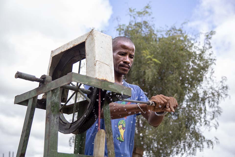 Mozambique water pump