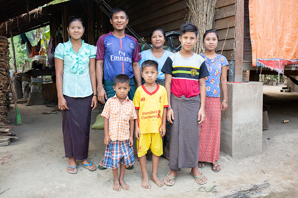 Myanmar farm family