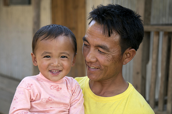 father and son in myanmar