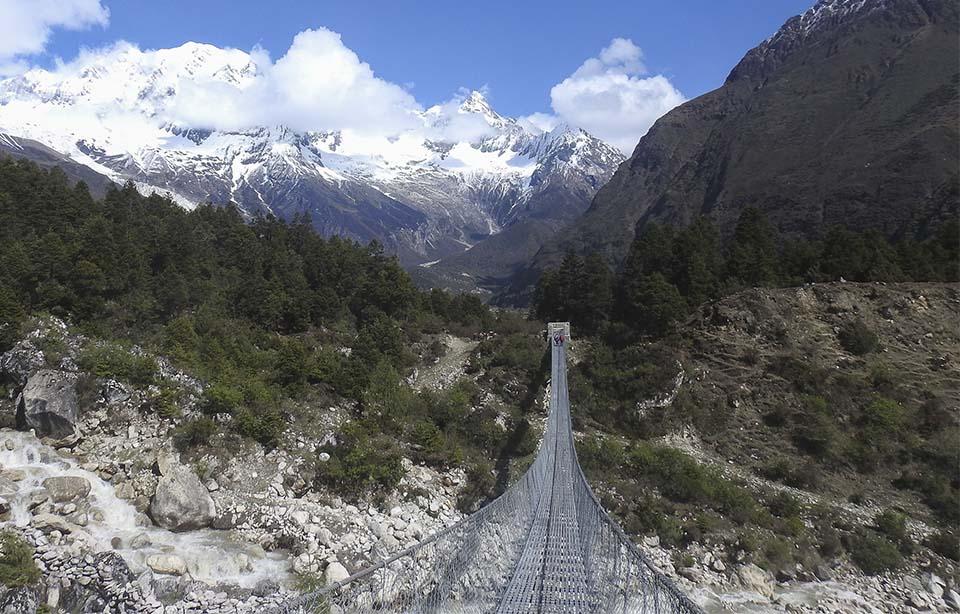 Nepal foot bridge