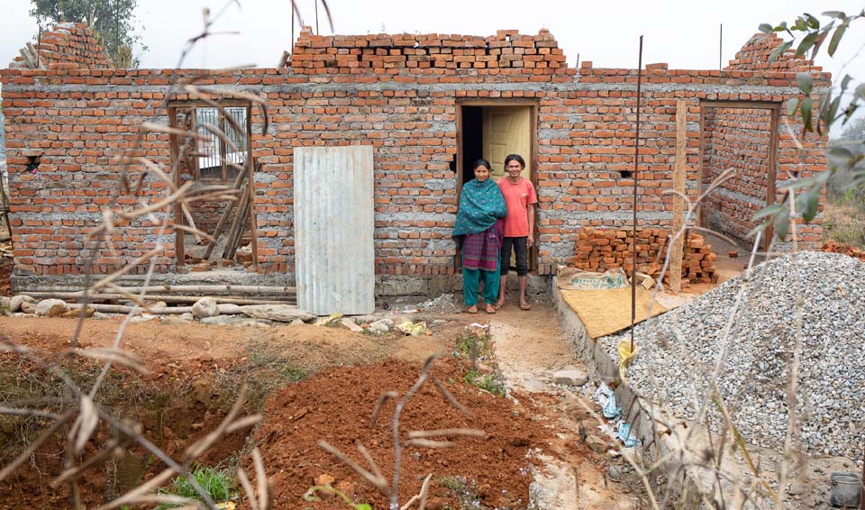 Nepal home under construction