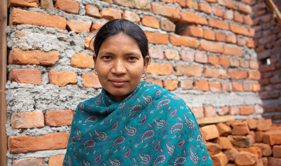 Nepal mother and mason