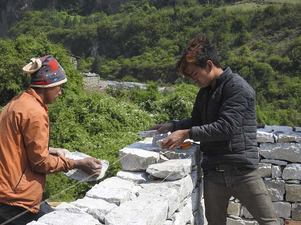 Nepalese masons