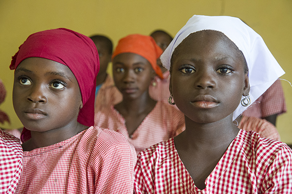Nigerian school girls helped by CRS partner