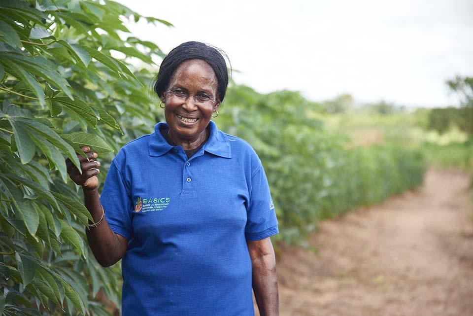 Nigerian cassava farmer