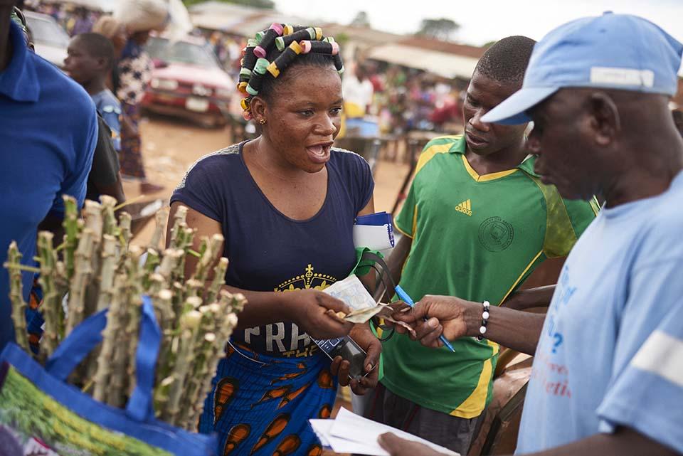 Nigerian cassava seller