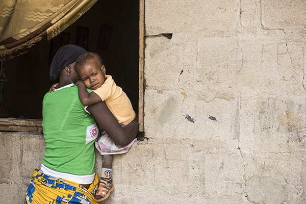 Nigerian mother and child escaped Boko Haram