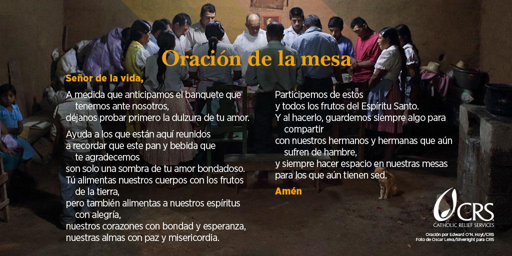 Oración de la mesa