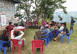 outdoor classroom in Nepal