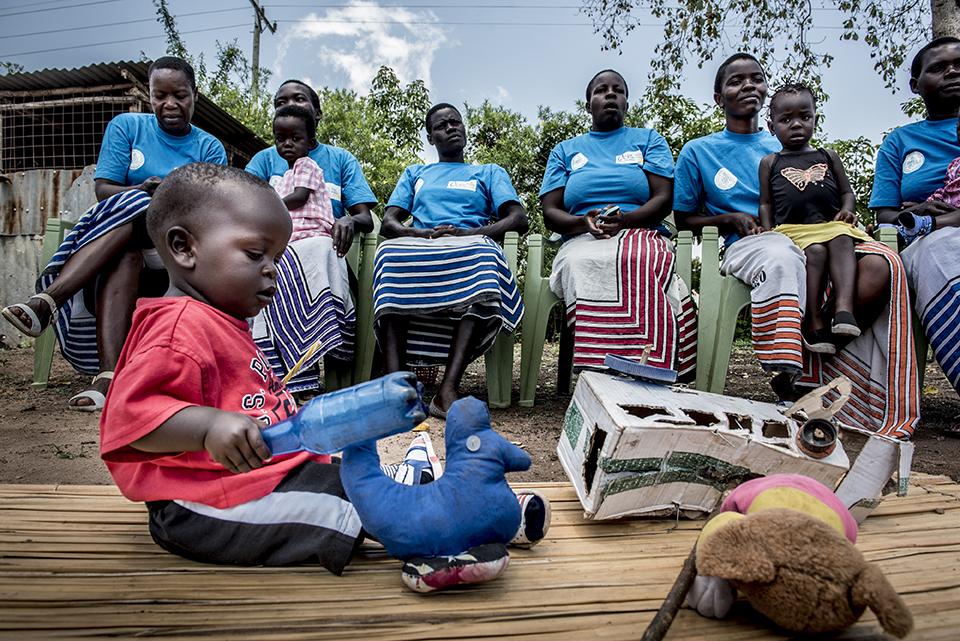 parenting group meets in Kenya