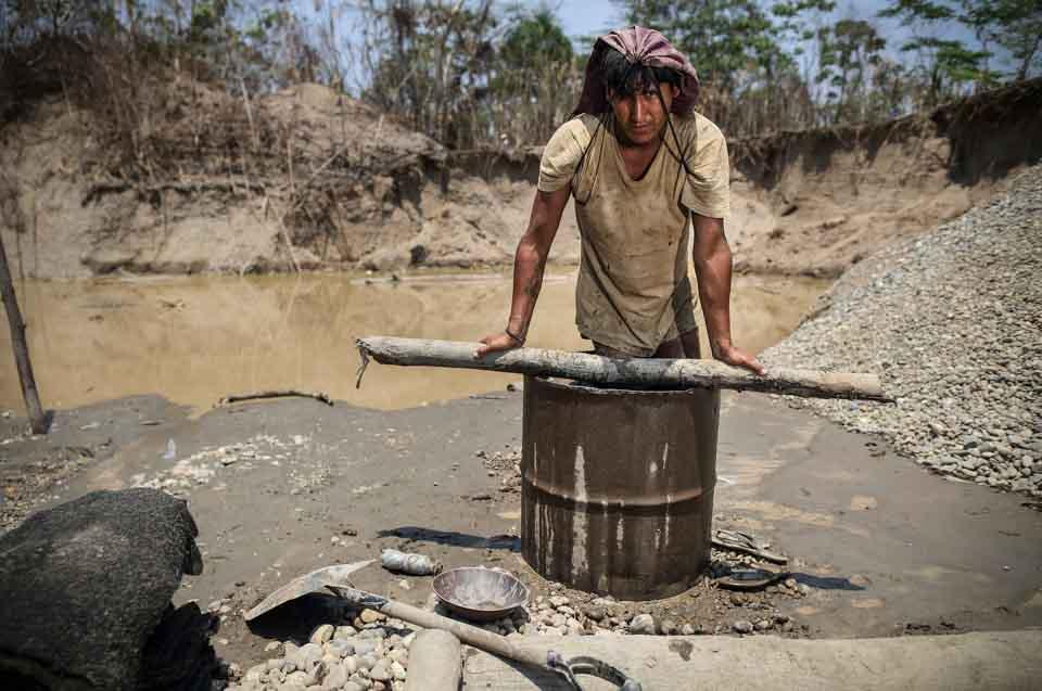 miner in Peru