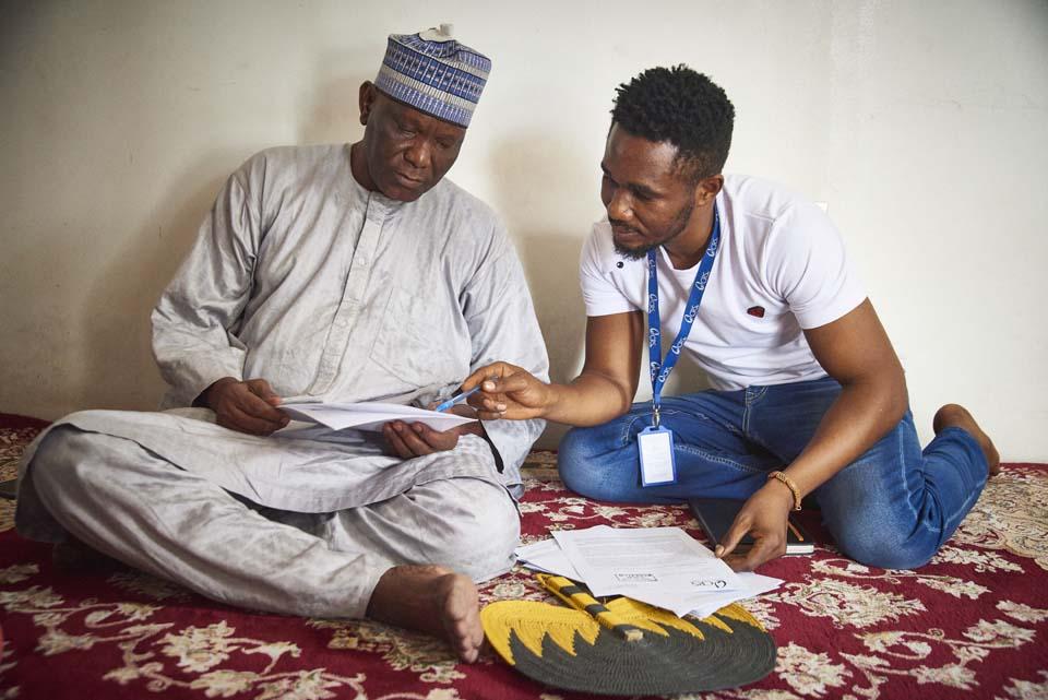 property specialist assists landowner in Nigeria