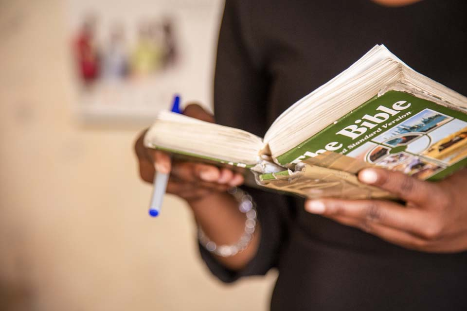 reading Bible in Zimbabwe