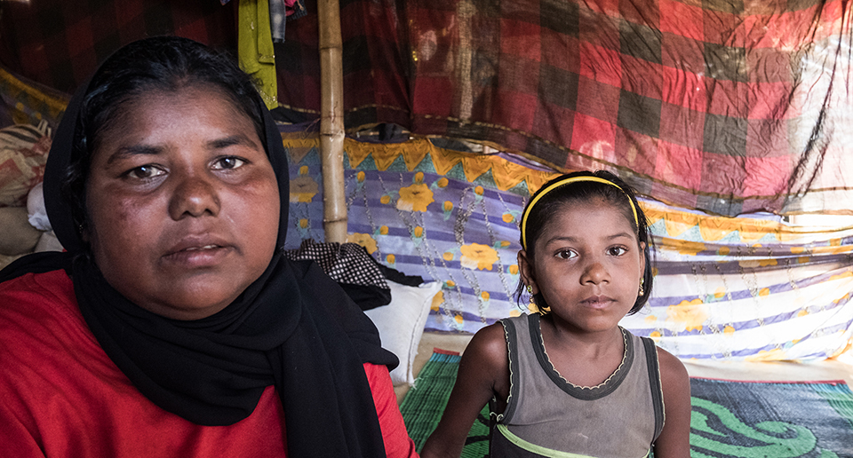 Rohingya mother and daughter in Bangladesh
