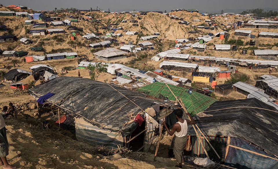 Rohingya refugee camp in Bangladesh