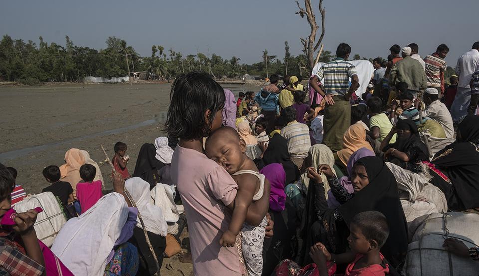 Rohingya refugess at Bangladesh border