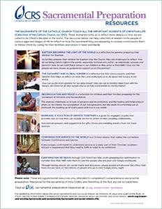 Click on this image to download a bilingual flyer listing all the available CRS sacramental preparation resources.