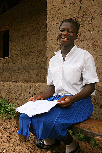High school student Isatu Turay studies in northern Sierra Leone, where a CRS education project is reaching nearly 200 schools. Photo by Helen Blakesley/CRS