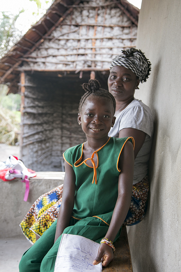 Nancy Yoko and her daughter, Lucy, in Bo, Sierra Leone.