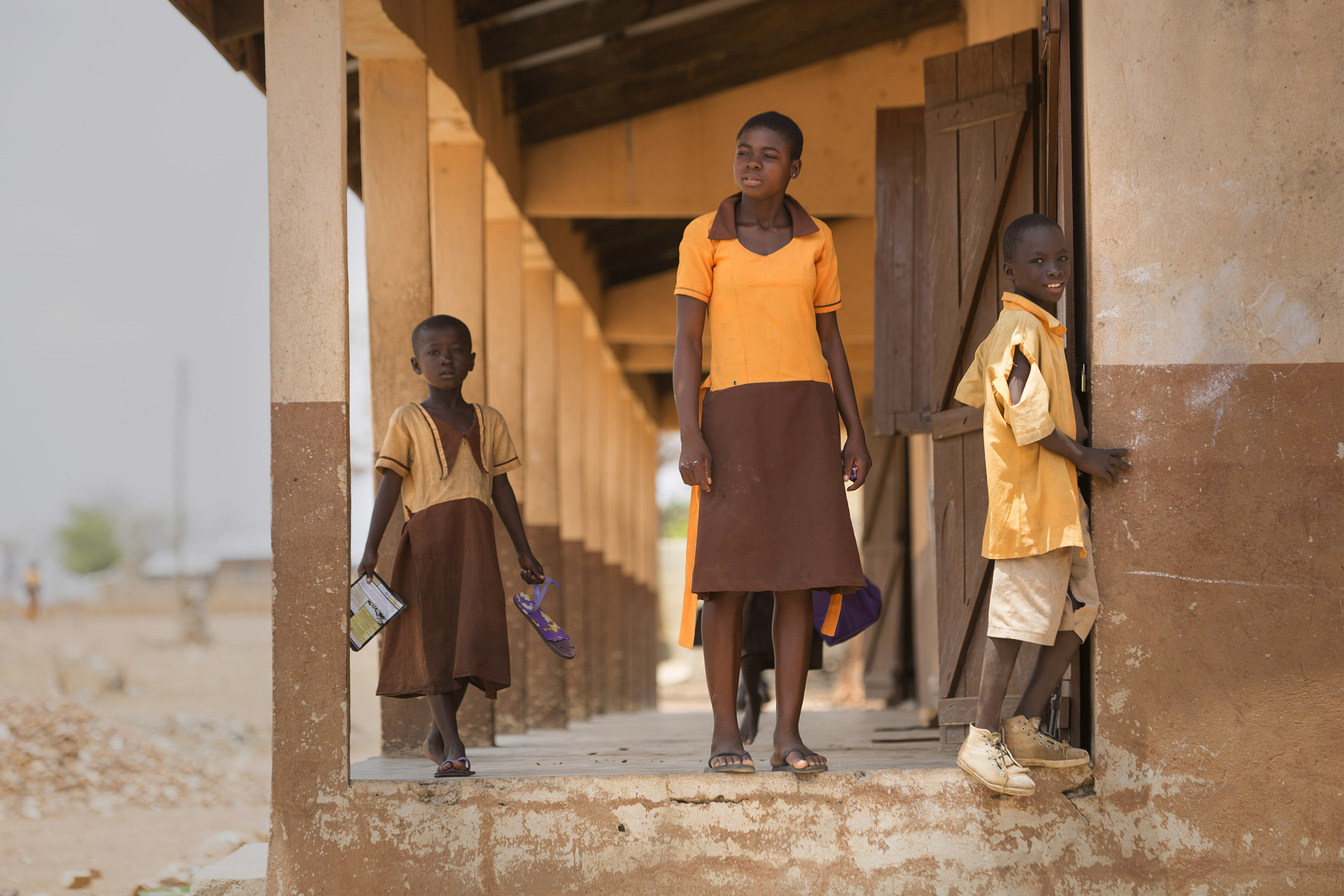 The impact of climate change is affecting the education system in Ghana. The ongoing severe and extreme weather patterns affecting Ghana's regions are challenging the infrastructure of schools. Photo by Jake Lyell for CRS