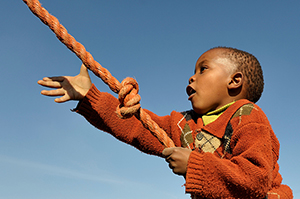CRS Small boy with rope