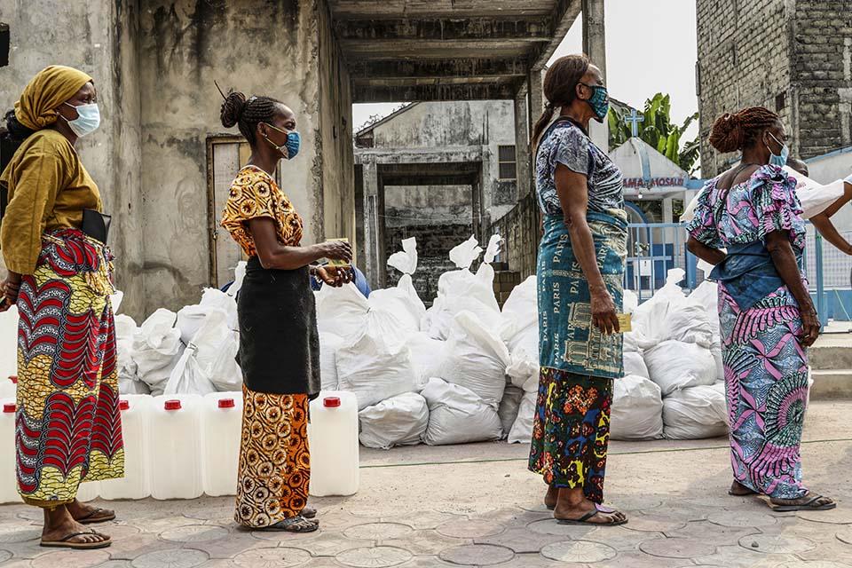social distancing in DR Congo