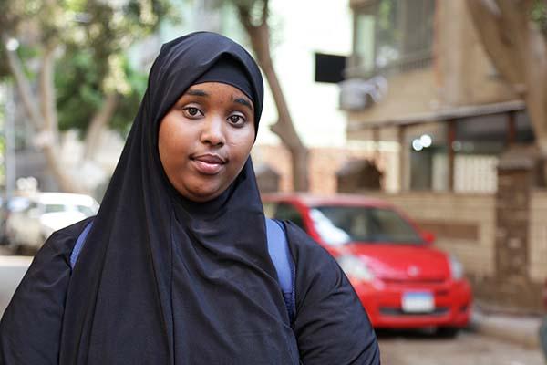 Somali refugee student