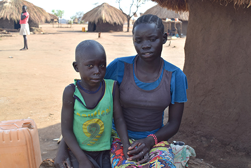 South Sudanese children in Uganda