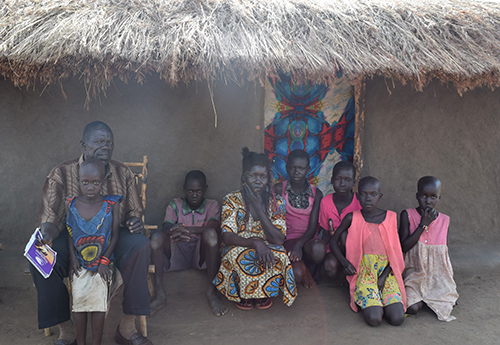 South Sudan family takes refuge in Uganda