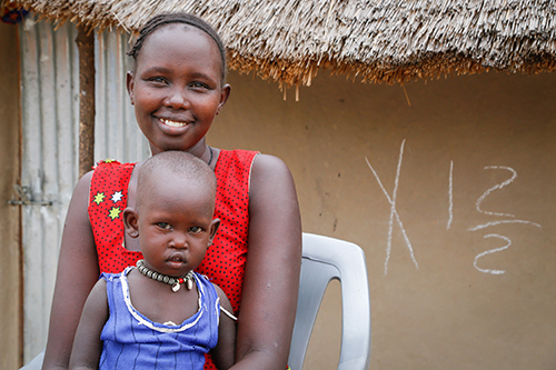 South Sudanese mother and child